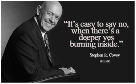 no, yes, stephen covey, priorities